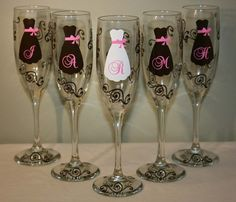Wedding Glasses by DesignsbyJamieM on Etsy