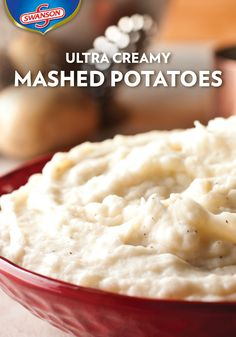 What's the secret that makes these mashed potatoes so creamy? Two words: chicken broth. They're smashed with the perfect amount of butter and cream until perfectly smooth to make a savory Thanksgiving side.