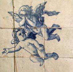 Portuguese Tattoo, Portuguese Tiles, Cub Sport, Inspiration Artistique, Tile Murals, Art Tiles, Antique Tiles, Mellow Yellow, Delft