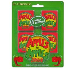 Apples to Apples Junior Mini Card Games Party Supplies