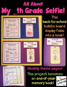 This back-to-school project begins as a craftivity/bulletin board display, and then turns into an end-of-year memory book!  With several social media and tech terms, the majority of students will find this activity to be very engaging! $