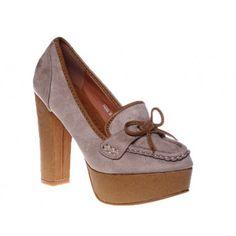 Pantofi cu platforma beige Rachel
