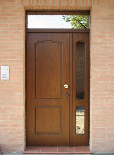 & & & & Security door with door in glass, covered in panels of wood multitrato Door Design Interior, Security Door, Glass Door, Tall Cabinet Storage, Entrance, Sweet Home, House Design, Windows, Doors