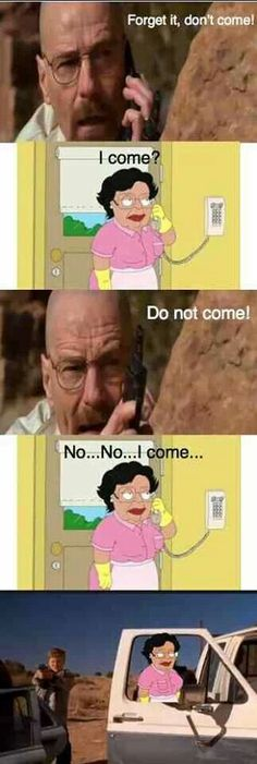 Breaking Bad meme ft Consuelo from Family Guy.