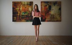 Lataa kuva Ksenia Kokoreva, photomodels, kauneus, ruskeaverikkö, tytöt