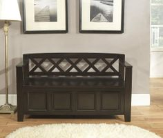 Hunter Storage Bench - Black - Indoor Benches at Benches   Ideas ...