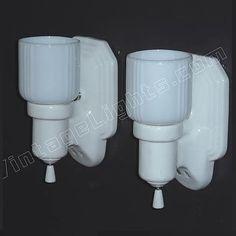 Vintage Bungalow Bathroom Sconces by AntiqueLighting on Etsy Vintage Bathroom Lighting, Modern Bedroom Lighting, Antique Lighting, Rustic Lighting, Bathroom Vintage, Outdoor Party Lighting, Outdoor Pendant Lighting, Wall Lighting, Bathroom Wall Sconces