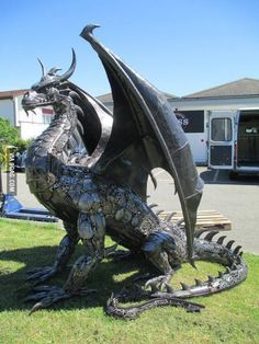 Made out of recycled car parts