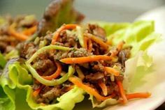 Paleo Ground Beef, Mushroom, and Broccoli Slaw Lettuce Cups | 29 Fresh And Delicious Lettuce Wrap Ideas
