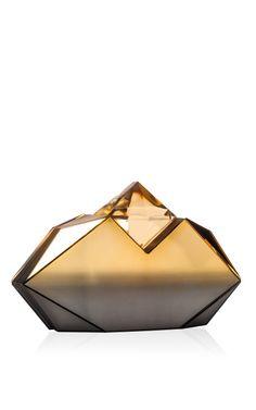 Gold Degrade Sputnik Clutch by Rauwolf for Preorder on Moda Operandi