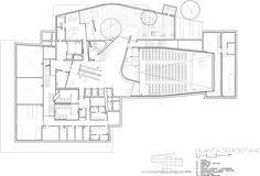 Культурный центр CaixaForum в Сарагосе   План цокольного этажа © Estudio Carme Pinós