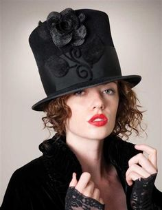 How gorgeous is this LOUISE GREEN MADAME HATTER HAT? ($330 from victoriantradingco.com)