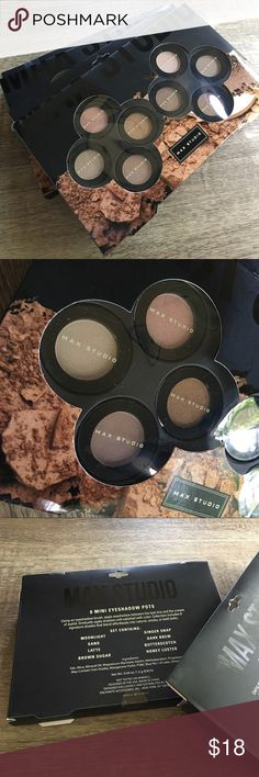 💠MAX STUDIO SEALED SET OF 8NEUTRAL  EYESHOW POTS 💠MAX STUDIO SEALED SET OF 8 NEUTRAL EYESHOW POTS. NEVER OPENED, NEVER USED. BOUGHT IN JULY. Max Studio Makeup Eyeshadow