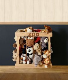 de Madera En Caja Childrens bedroom mobile.zoo Animales