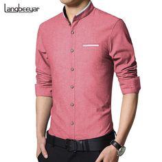 Long Sleeve - Casual - Mandarin Collar - Slim Fit