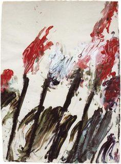 Nicola's Irises - Cy Twombly  1990