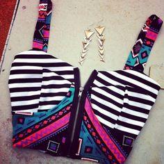 shirt zipper bustier jewels tank top clothes t-shirt bralet aztec blouse crop tops top hipster tumblr tribal pattern tribal tank top aztec p...