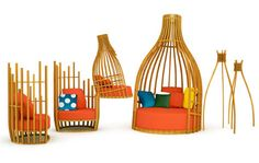 The Bottle Collection of Outdoor Furniture by Deesawat Industries