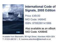 Marpol consolidated edition 2017 ie520e isbn 9789280116571 international code of signals 2005 edition ia994e isbn 9789280141986 fandeluxe