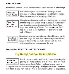 CARD PLAY - Unblocking (nofearbridge.co.uk) Bridge Rules, Bridge Card Game, Play Bridge, Card Games, Hobbies, Gaming, Learning, Cards, Videogames