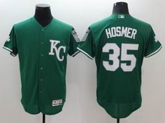 Kansas City Royals #35 Eric Hosmer Green Celtic Flexbase Collection Stitched MLB Jersey