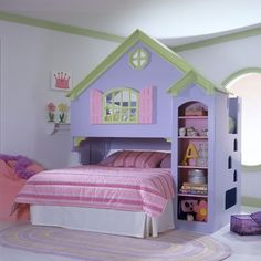 Mastercraft Collections Loft Twin Doll House Bed with Bookshelves | Wayfair