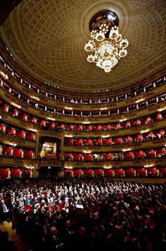 The famed La Scala Opera House, Milano #WonderfulExpo2015 #WonderfulMilan, Beautiful theater, a dancer I know would love to be on this stage, but they only take dancers from their schools. :(