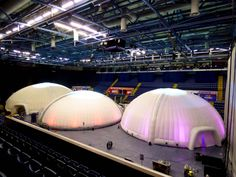 A 24m Dome and two 20m Domes at Nottingham Ice Arena   #eventprofs #eventstructures #inflatablestructures #temporarystructures #popupstructures #events #domes #inflatabledomes