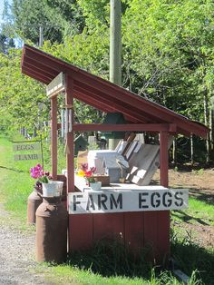 Salt Spring Island Roadside Stand typical sight all on the honour system... I love this
