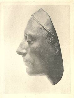 Life mask of Keats included in the biography of the poet by Sidney Colvin.