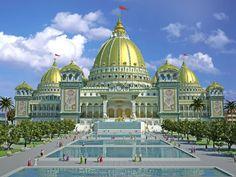 Temple of the Vedic Planetarium - Mayapur, India (Planned)  world largest temple