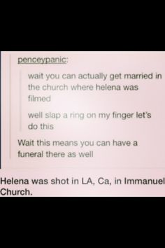 Omg the church Helena was shot at #my chemical romance