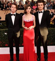 Charlie Heaton, Natalia Dyer, and Joe Keery