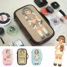 Retro Meisje Make Up Koffer. Onine te koop bij JL Kidsoutlet