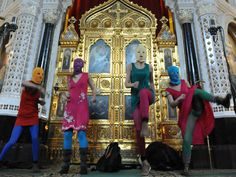 Pussy Riot's antiPutin performance at a Moscow Orthodox Christian church that led to their arrest
