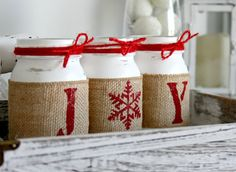 Christmas Decorations -Table Decor-Rustic Home Decor-Gift Hostess-Christmas Home Decor-Housewarming Gift-Table Centerpiece-Gift Under 50 Centerpiece Christmas, Country Christmas Decorations, Christmas Mason Jars, Cheap Christmas, New Years Decorations, Rustic Christmas, Red Christmas, Christmas Crafts, England Christmas