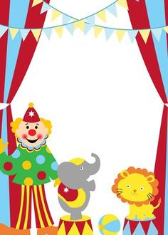 Convites prontos - Diversos temas - Minus Clown Party, Circus Theme Party, Circus Birthday, Clown Crafts, Circus Crafts, Theme Carnaval, Circus Invitations, Thankful Tree, Circus Poster