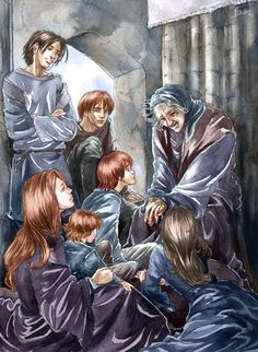 Old Nan with Eddard Stark's children- Old Nan seems to know more history than any other person in Westeros