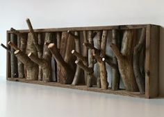 DIY indoor Firewood Rack | Coat holder made with wood and branches