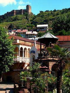 Tbilisi old town and Narikala Fortress თბილისი by maykal, via Flickr