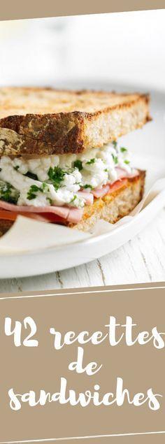 Our best sandwich recipes for picnics - RECETTES - Sandwich Best Sandwich Recipes, Panini Recipes, Picnic Recipes, Healthy Eating Tips, Healthy Recipes, Cuisine Diverse, Smothie, Fingers Food, Wrap Sandwiches