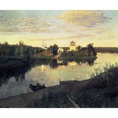 By the whirlpool by Levitan Isaac Giclee Canvas Print