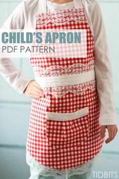 Make your own child's apron, from this printable PDF pattern and easy to understand instructions.