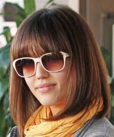 just had this done. turned out a bit shorter but it'll grow out...long bob with bangs -  -+Bing Images