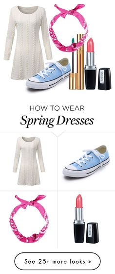"""Untitled #511"" by fashionismykryptonitrpe on Polyvore featuring Converse, Yves Saint Laurent, Isadora, women's clothing, women's fashion, women, female, woman, misses and juniors"