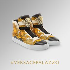 Designed to impress. These #VersacePalazzo sneakers are pure attitude, discover them on versace.com