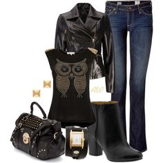 """""""Studded Owl"""" by amy-phelps on Polyvore"""