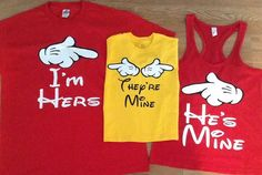 Artículos similares a Free Shipping Disney Family I'm Hers, He's Mine and They're Mine en Etsy
