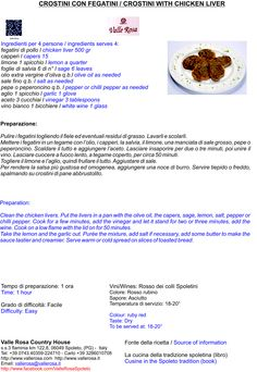 Crostini con fegatini/Crostini with chicken liver
