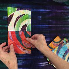 Swirls of Scraps with Melissa McGill {Tutorial} - Crochet Quilling Ideas Modern Quilt Blocks, Circle Quilts, Strip Quilts, Batik Quilts, Scrappy Quilts, Quilting Tutorials, Quilting Projects, Quilting Tips, Art Tutorials